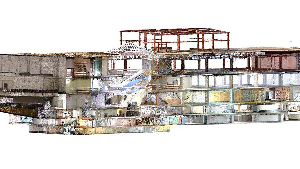 Digitale 3D Bestandsaufnahme Laserscan 960