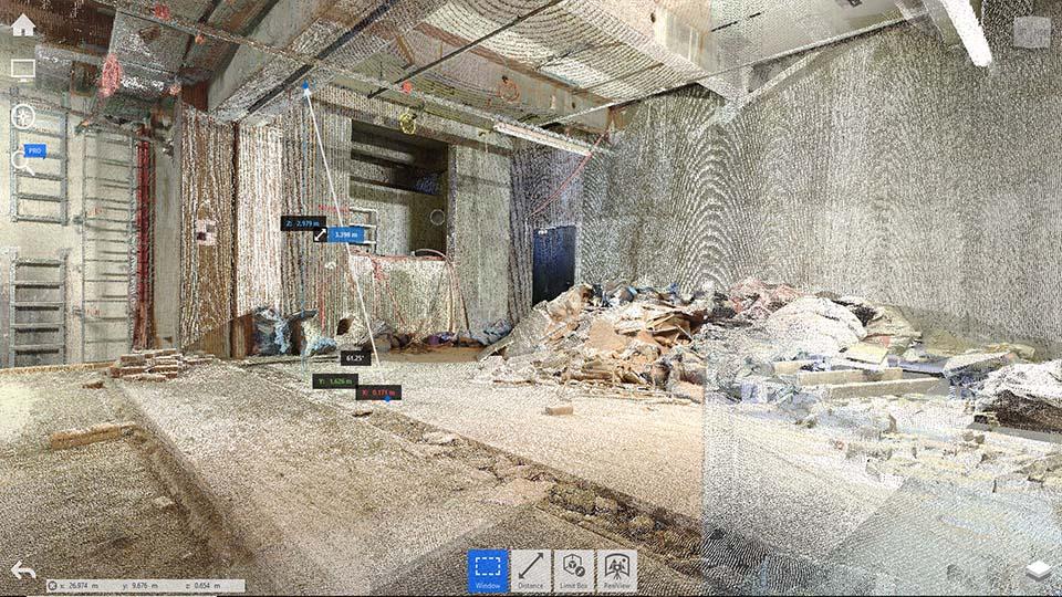 3D-Bestandsdokumentation Punktwolke 3D Scan