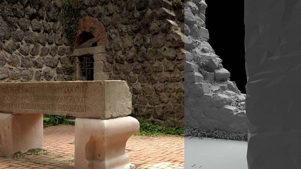 Digitale 3D Rekonstruktion Düsseldorf Kaiserpfalz