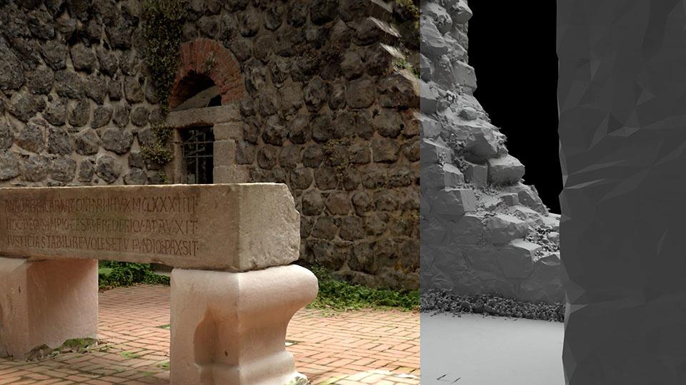 Digitale 3D-Rekonstruktion der Kaiserpfalz in Düsseldorf Kaiserswerth