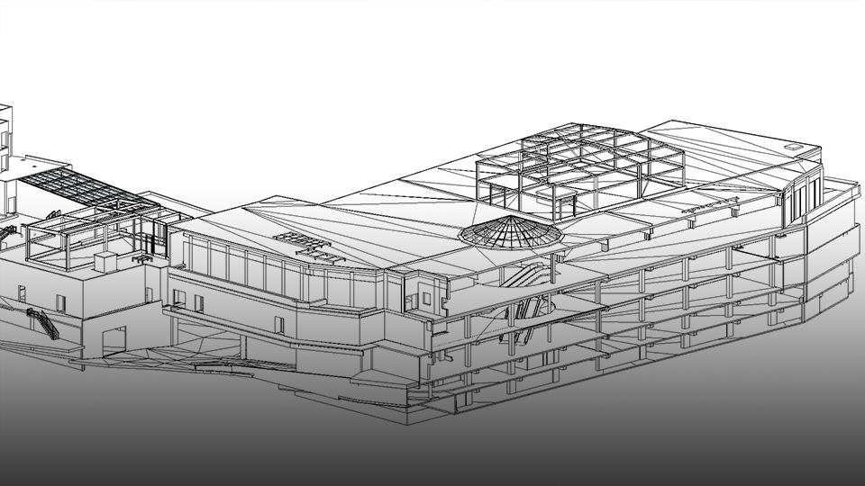 3D Revit Architekturmodell als Grundlage für BIM aus 3D-Scan Daten