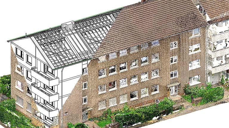 Scan To Bim Fassaden Sanierung Köln
